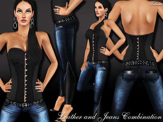 Sims 3 denim, jeans, bottom, outfit
