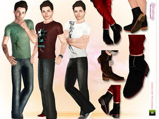 Sims 3 cloth, clothing, fashion, casual, set, shoes