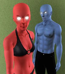 Sims 3 eyes, genetics, male, female, glow