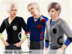 Sims 3 jacket, top, males