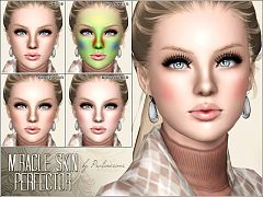 Sims 3 blush, costume makeup, female, sims3