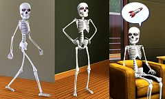 Sims 3 skeleton, horror, sims