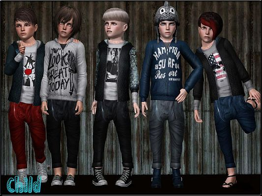 Sims 3 cloth, clothing, outfit, fashion, casual, set