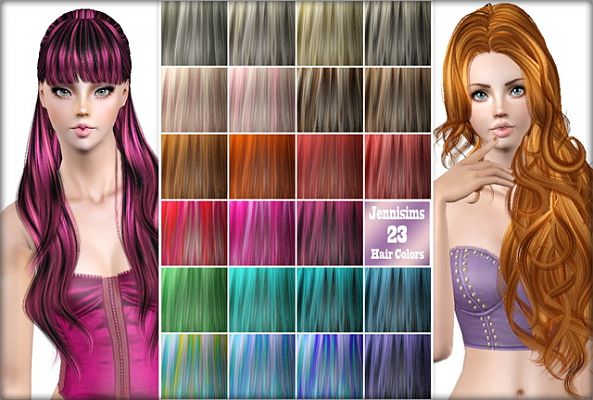 Sims 3 hair, color, palet