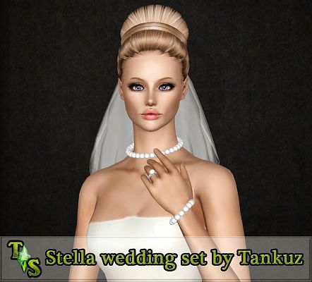 Sims 3 earrings, accessory, jewelry, veil
