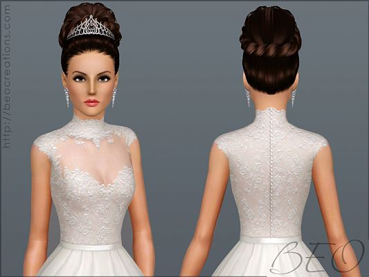 Sims 3 dress, cloth, clothing, outfit, fashion, wedding
