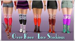 Sims 3 stockings, accessories, fashion, female, recolorable