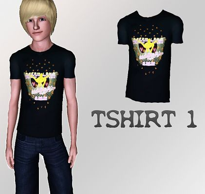 Sims 3 cloth, clothes, male, fashion, top, t-shirt