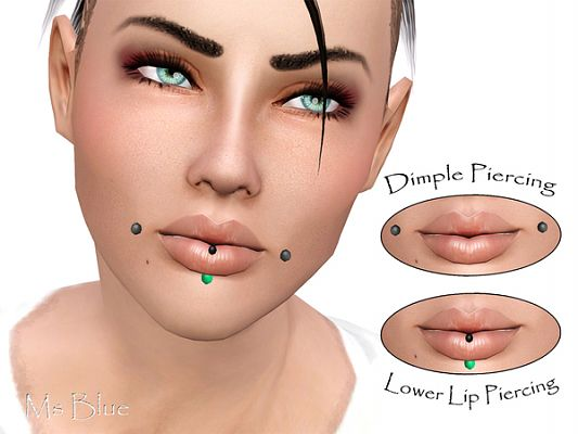 Sims 3 piercings, accessory