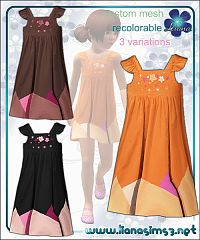 Sims 3 embroidery, dress, outfit, cloth, girl, fashion