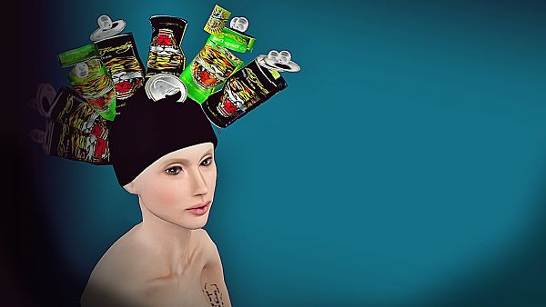 Sims 3 accessory, hat, glamour