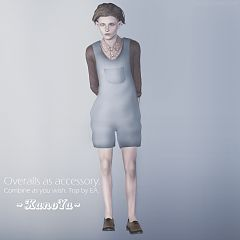 Sims 3 cloth, clothing, outfit, overall