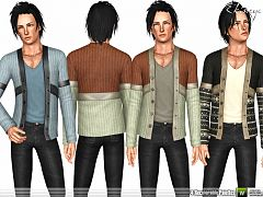 Sims 3 male, blazer,  top, clothing, sims3
