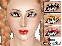 Sims 3 eyelashes, costume makeup, makeup, female, sims3