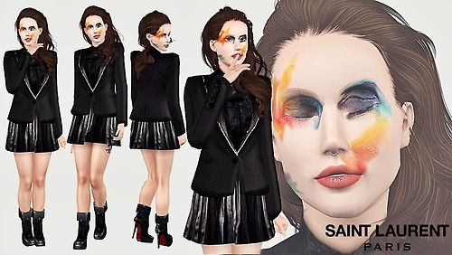 Sims 3 outfit, clothing, fashion, female, makeup, sims3