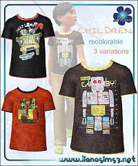 Sims 3 t-shirt, boy, male, clothing, fashion, sims3