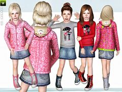 Sims 3 outfit, shoes, child, clothing