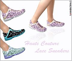 Sims 3 shoes, lace, sneakers