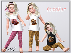 Sims 3 pajama, slippers, toddler