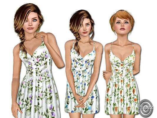 Sims 3 dress, fashion, clothing, female, outfit
