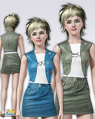 Sims 3 clothing, skirt, vest everyday, sims3, fashion