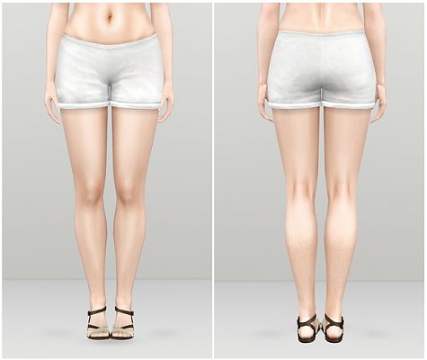 Sims 3 clothes, fashion, females, shorts, denim