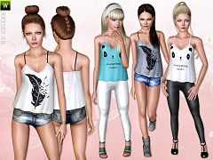 Sims 3 fashion, clothing, female, outfit