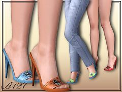Sims 3 shoes, footwear, heels