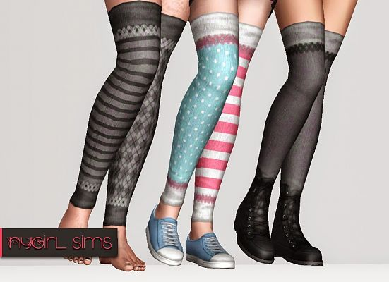 Sims 3 socks, stockings, accessories, female, fashion