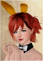 Sims 3 accessories, bunny ears, makeup