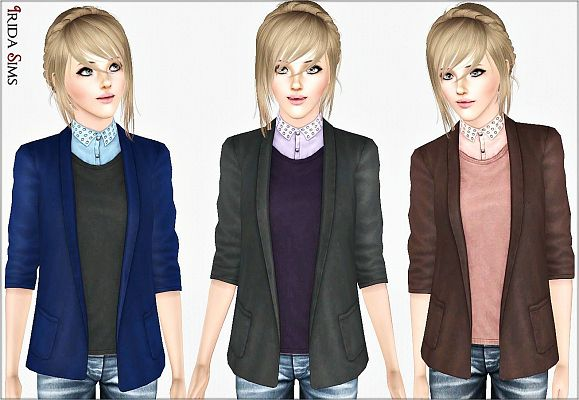 Sims 3 female, jacket, top, clothing, outfit, fashion, sims3