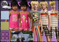 Sims 3 clothes, teen, children, toddler, fashion