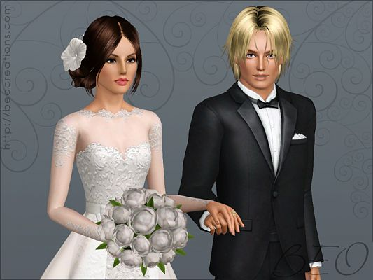 Sims 3 wedding bouquet, accessories, female, fashion
