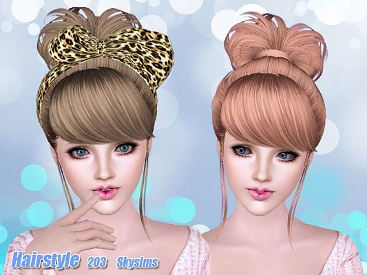 Sims 3 hair, hairstyle, genetics, female, sims3