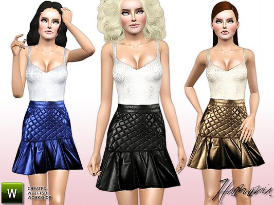 Sims 3 skirt, clothing, clothes, top