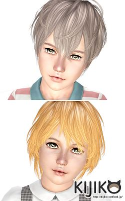 Sims 3 hair, hairstyle, kids
