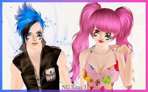 Sims 3 makeup, blush, butterfly