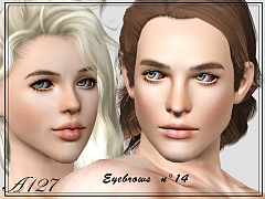 Sims 3 eyebrows, brows, genetics