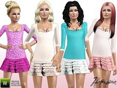 Sims 3 outfit, dress, female, clothing, fashion