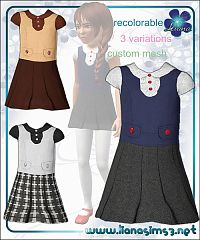 Sims 3 dress, cloth, clothes, outfit, girl, child, outfit