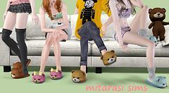 Sims 3 slippers, footwear