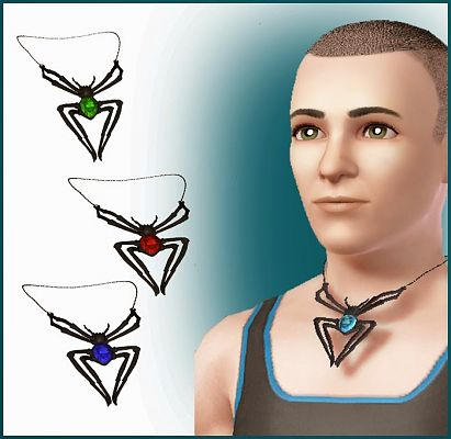 Sims 3 spider, necklace, accessory