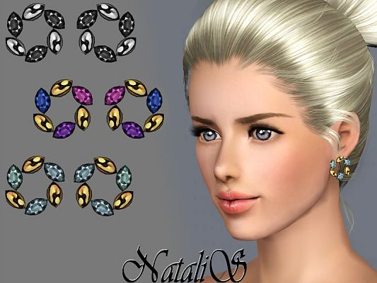 Sims 3 earrings, accessories, jewelry, female, sims3