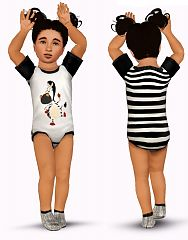 Sims 3 bodysuit, clothing