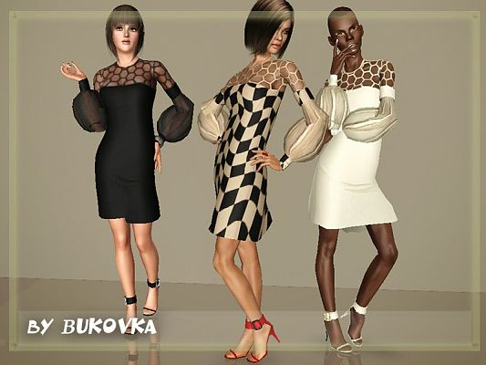 Sims 3 dress, outfit, clothing, fashion, female, shoes, sims3