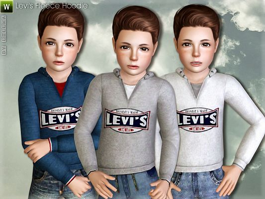 Sims 3 top, clothing, hoodie, male, sims3