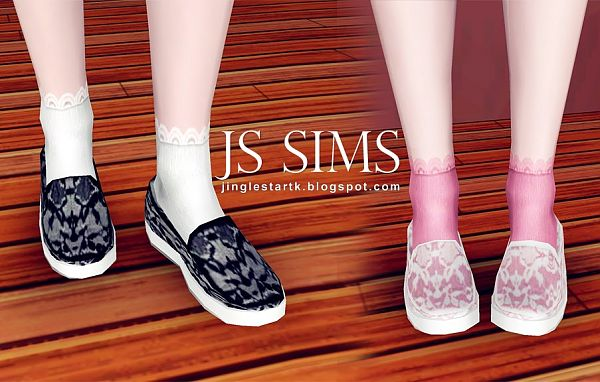 Sims 3 shoes, flats, female, sims3