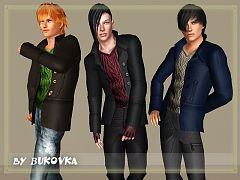 Sims 3 male, outfit, coat, clothing, sims3