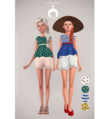 Sims 3 shirt, female, clothing