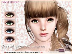 Sims 3 eyes, genetics, crystal